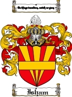Isham Family Crest / Coat of Arms JPG or PDF Image Download