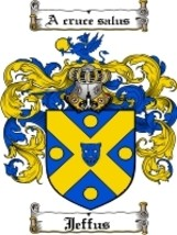 Jeffus Family Crest / Coat of Arms JPG or PDF Image Download - $6.99