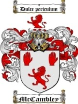 Mccambley Family Crest / Coat of Arms JPG or PDF Image Download - $6.99