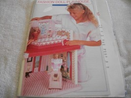 Plastic Canvas Fashion Doll Playhouse Pattern - $32.00
