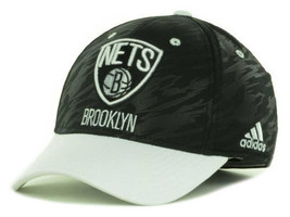 b49a7be8cc1 Brooklyn Nets NBA Adidas  quot Courtside 2 Tone quot  Stretch Fitted Hat ...