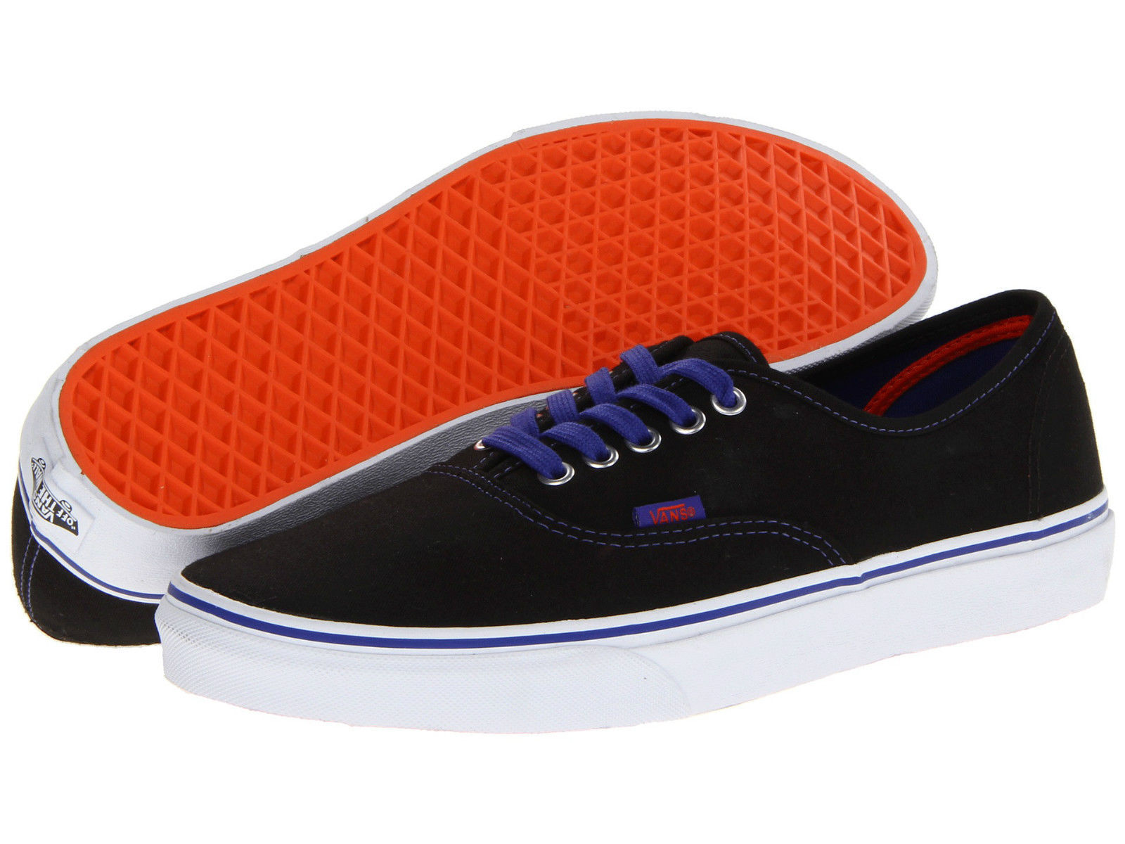 19e37e2e63 New Vans Authentic Pop Black Royal Blue and 50 similar items