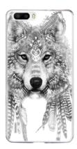 Huawei P9 Cover Resistente Anti Sporcizia Gel Design Grey Wolf Lupo Grigio - $2.81