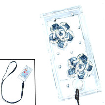 Bling Black flower Crystal Hard case for ipod Nano 7th Gen 7G + Detachab... - $7.83