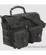 Black Tactical MOLLE Briefcase 600d Construction with Laptop Bag Shoulder - $49.98