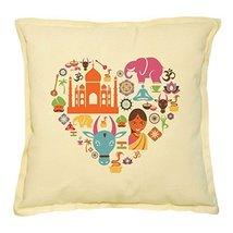 Vietsbay's India Prints Khaki Decorative Throw Pillows Cover Cushion Cas... - $15.99