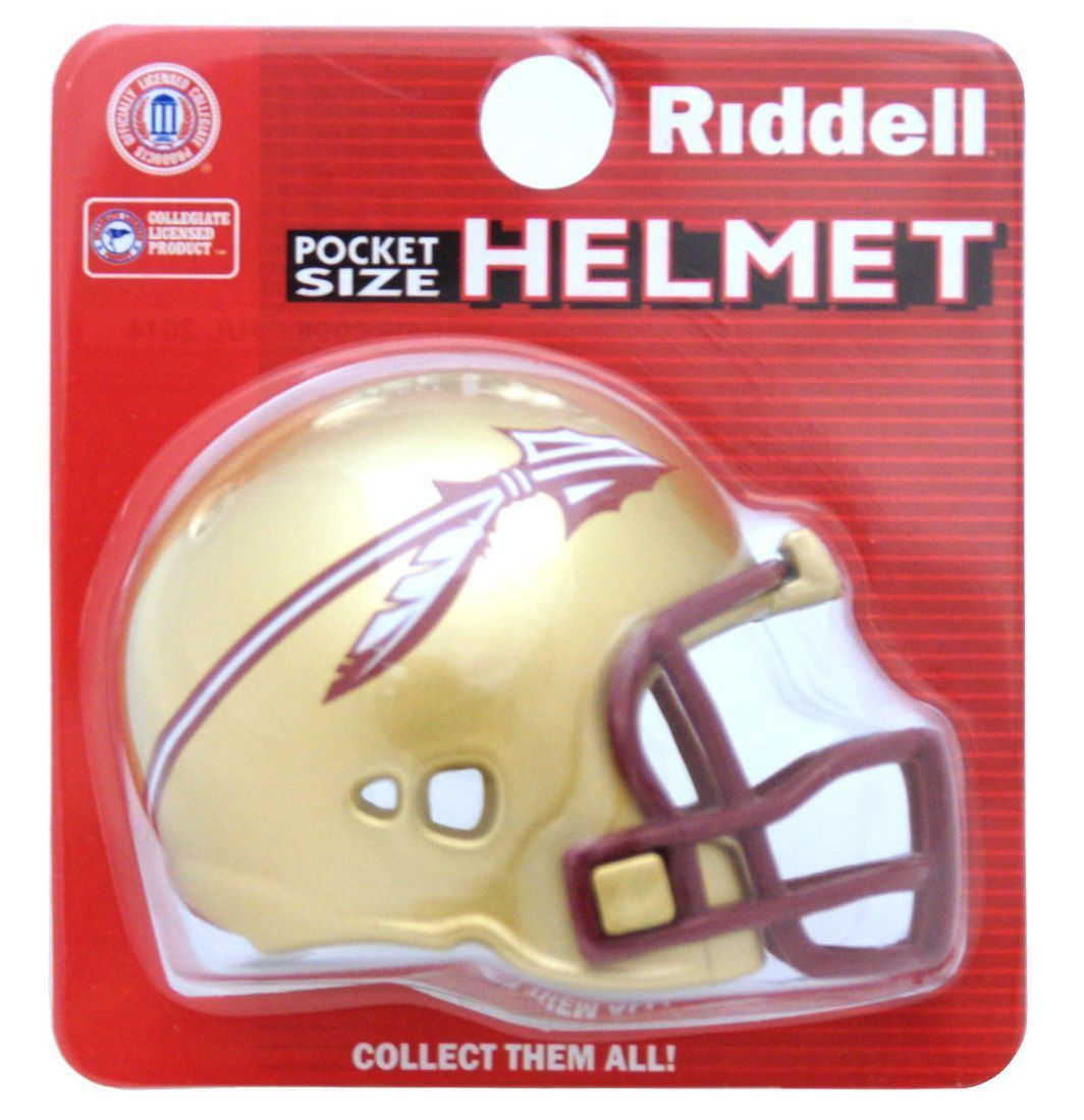 "FLORIDA STATE SEMINOLES POCKET PRO FOOTBALL HELMET 2"" SIZE  Made By RIDDELL!"