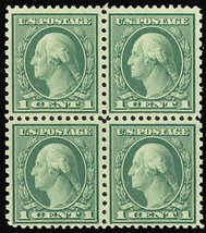 538, XF NH GEM BLOCK OF FOUR - Cat $92.00++ - Stuart Katz - $75.00