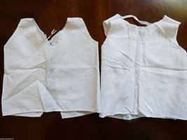 VTG 1960's Italy made Newborn baby cotton embroidery lace under shirt lo... - $17.82