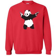 090 Panda Crew Sweatshirt gun activist world peace green asia asian vint... - $20.00+