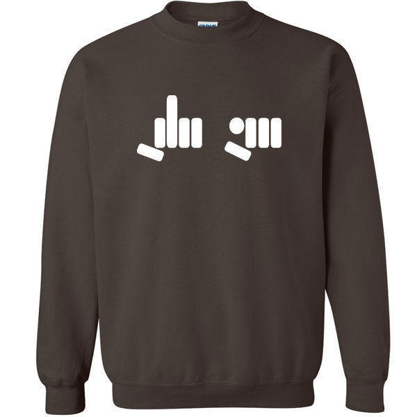093 FU hand Symbol Crew Sweatshirt middle finger rude vulgar cool curse vintage