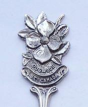 Collector Souvenir Spoon Canada BC Victoria Dogwood Flower Emblem - $9.99