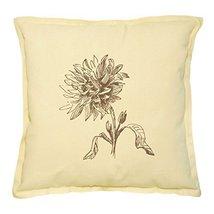 Vietsbay's Hand-Drawn Dahlia Flower 1 Prints Khaki Decorative Pillows Case - $15.99