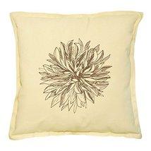 Vietsbay's Hand-Drawn Dahlia Flower 2 Prints Khaki Decorative Pillows Case - $15.99
