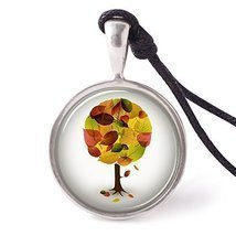 Vietsbay's Blooms of Fall Necklace Pendants Pewter Silver - $9.99