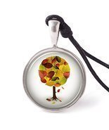 Vietsbay's Blooms of Fall Necklace Pendants Pewter Silver - $13.37 CAD