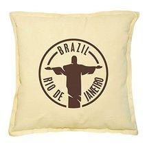 Vietsbay's Brazil Travel Stamp Prints Khaki Decorative Pillows Cover Cas... - €13,99 EUR