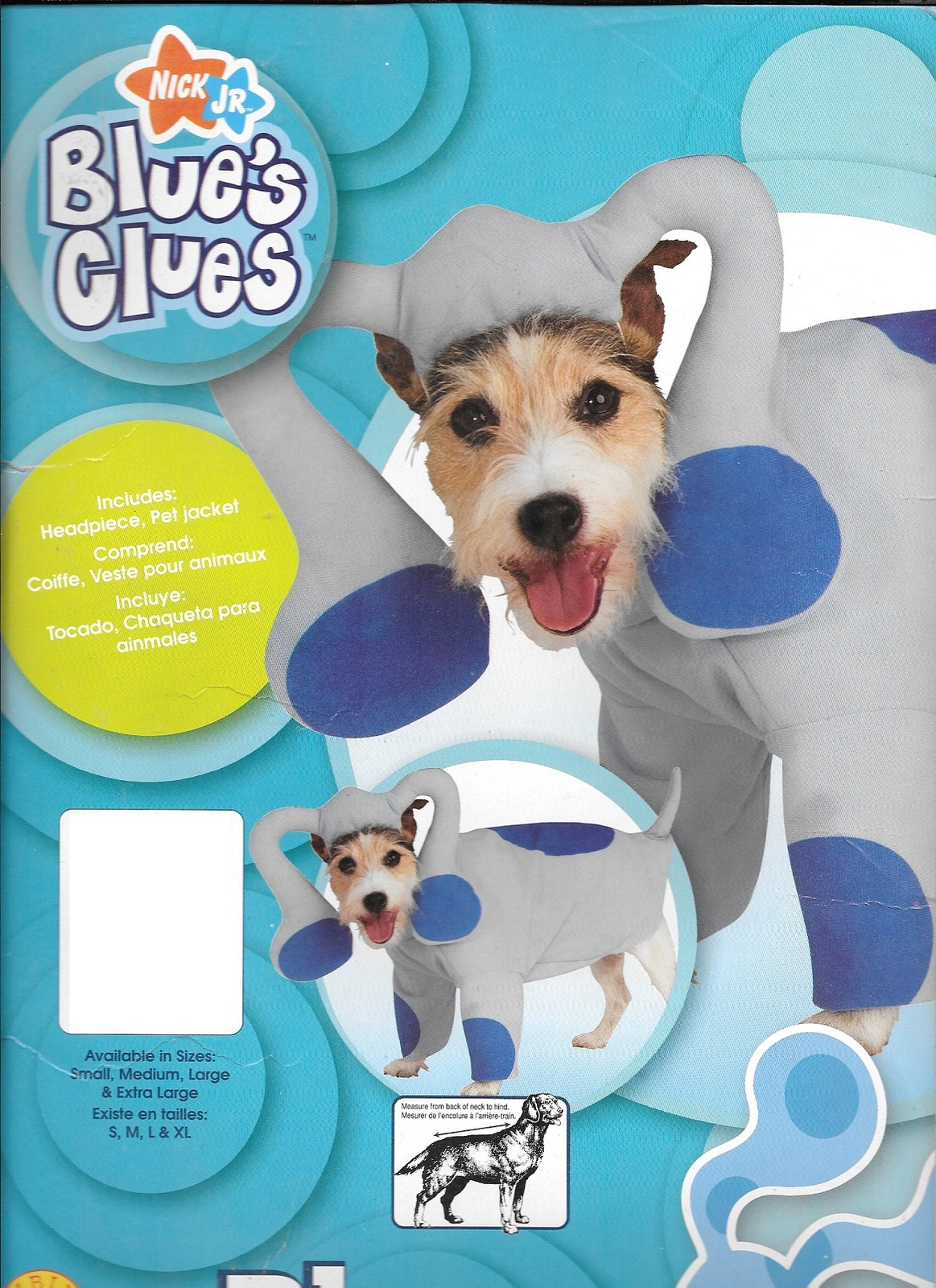 "BLUES CLUES PET COSTUME LARGE to fit a 18-20"" PET"