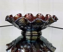 FENTON Persian Medallion Amethyst Carnival Glass Bowl 1970's - $74.50