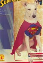 SUPERMAN Size MEDIUM PET COSTUME  - $18.00