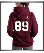 Dallas 89 White ink Cameron Dallas printed on Back of MAROON hoodie S to... - $31.00+