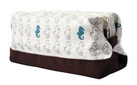 Vietsbay's Women SeahorsePrint Canvas Toiletry Bag Makeup Cosmetic Pouch - £9.00 GBP