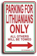 Lithuania Parking Sign - $11.94