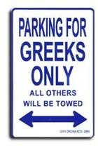 Greece Parking Sign - $11.94