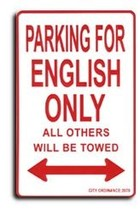 England (St. George) Parking Sign - $11.94