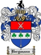 Bergmann Family Crest / Coat of Arms JPG or PDF Image Download - $6.99