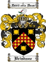 Primary image for Brisbane Family Crest / Coat of Arms JPG or PDF Image Download