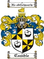 Primary image for Camble Family Crest / Coat of Arms JPG or PDF Image Download