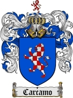 Primary image for Carcamo Family Crest / Coat of Arms JPG or PDF Image Download