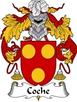 Primary image for Coche Family Crest / Coat of Arms JPG or PDF Image Download