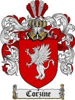 Primary image for Corzine Family Crest / Coat of Arms JPG or PDF Image Download