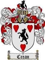 Crean Family Crest / Coat of Arms JPG or PDF Image Download