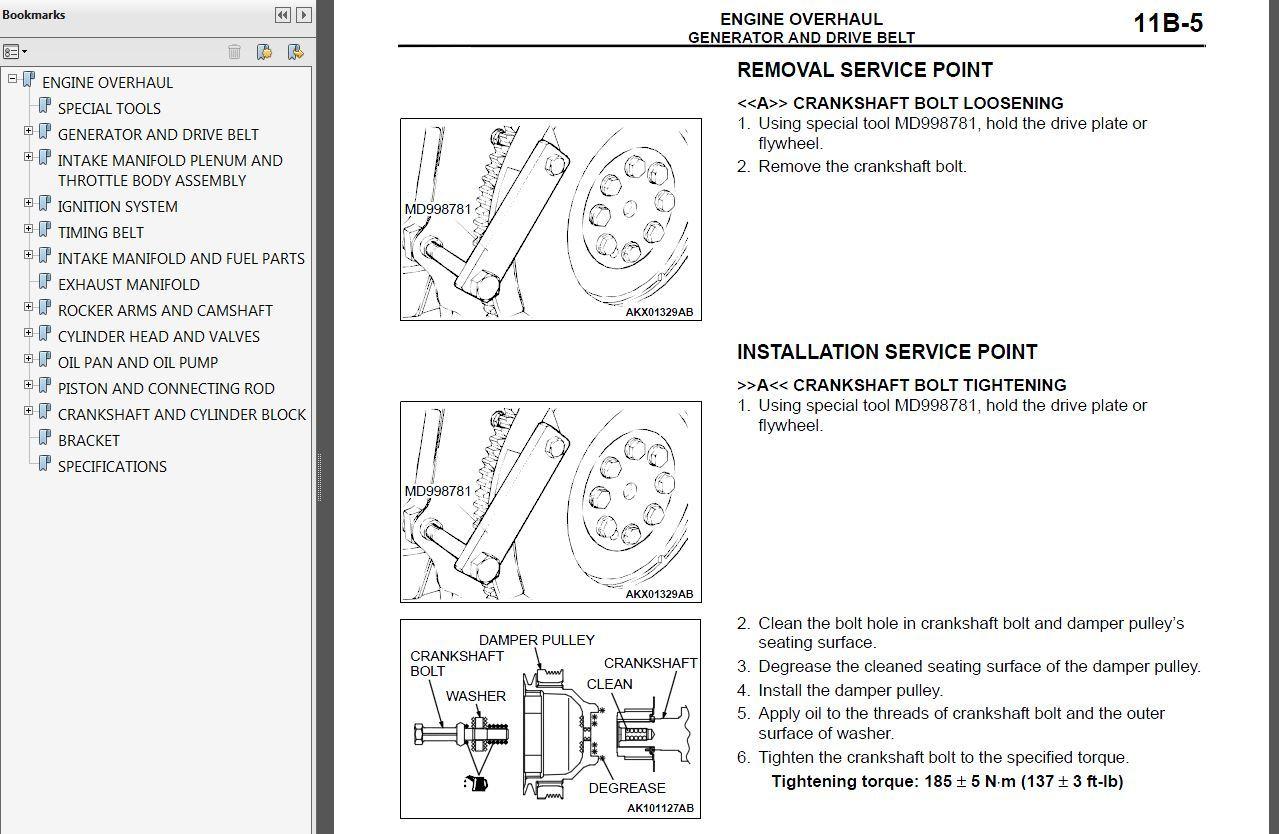 2006 Mitsubishi Montero Factory Repair Service Manual MSSP-004B-2006