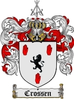 Crossen Family Crest / Coat of Arms JPG or PDF Image Download