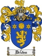 Driden Family Crest / Coat of Arms JPG or PDF Image Download - $6.99