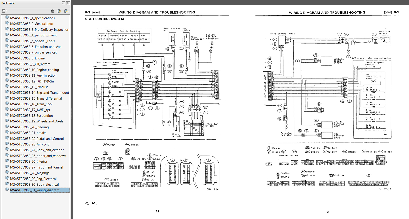 1992 1997 Subaru Svx Factory Repair Service And 50 Similar Items Wiring Diagram Sample2