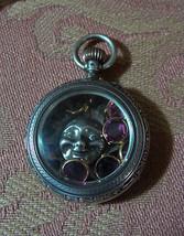 Antique 800 Silver Ladies Pocket Watch Locket / Shadow Box/ Charm Holder... - $143.55