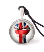 Vietsbay's United Kingdom Flag Necklace Pendants Pewter Silver - £7.87 GBP