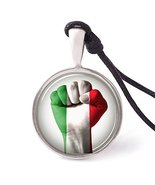 Vietsbay's Italy Flag Necklace Pendants Pewter Silver - £7.87 GBP