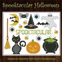 Spooktacular Halloween Sampler cross stitch chart Pinoy Stitch - $6.00