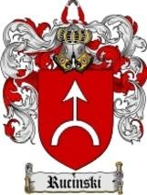 Rucinski Family Crest / Coat of Arms JPG or PDF Image Download - $6.99