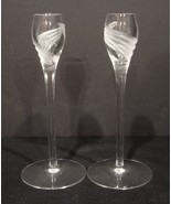 Pair of Lenox Crystal Candle Holders~ Windswept Pattern - $21.00