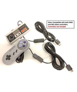 Pair of Controller Extender Cable Cords For Nintendo NES SNES Classic Mi... - $11.99