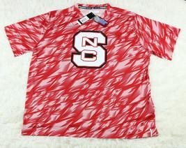 Adidas NCAA Mens North Carolina NC State Wolfpack Red Training Crew Shirt Sz M  - $31.78