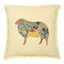 Vietsbay's Sheep in The Georgian Ornament Prints Khaki Decorative Pillow... - $15.99