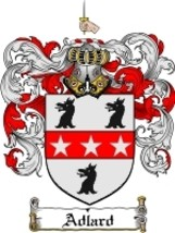 Adlard Family Crest / Coat of Arms JPG or PDF Image Download - $6.99